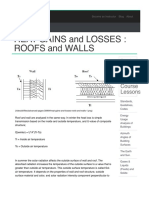 HEAT GAINS and LOSSES - ROOFS and WALLS | Energy-Models.com