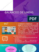 BALANCEO DE LINEA