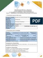 Guía de actividades y rúbrica de evaluación - Tarea 3 - Habilidades y herramientas del psicólogo para el abordaje en grupos étnicos (3).pdf