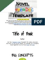 Novel HyperDoc Template (Elementary Level)