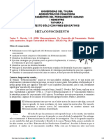 DOC. DE LECTURA. TUT. 2. METACONOCIMIENTO E INTELIGENCIAS MÚLTIPLES (1)