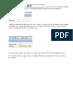 Create Bank Account