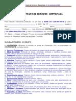 Minuta Contrato de Prestacao de Servicos de Empreitada-RESIDENCIAL