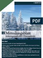Mitteilungsblatt 1. Quartal 2011
