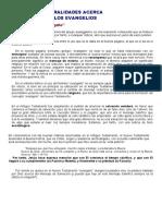 GENERALIDADES ACERCA DE LOS EVANGELIOS