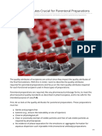 pda.org-Excipients Attributes Crucial for Parenteral Preparations