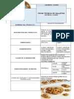 FICHA TECNICA DE GALLETAS OATMEL