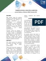 PROCESOS DE FERMENTACIÓN EN LA INDUSTRIA ALIMENTARIA