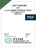 projectreportoncustomersatisfaction-130823035328-phpapp01