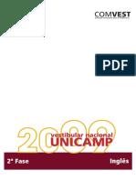 inglês segunda fase 2009 unicamp