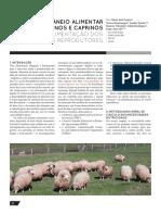 Maneio alimentar em ovinos e caprinos. 1. Alimentação dos ovinos reprodutores  Agrotec 2018