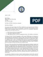 4-13-2020 Arts Relief Letter to Mayor de Blasio
