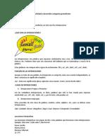 Actividad a desarrollar categorías gramaticales