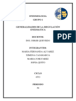 GENERALIDADES DE LA REGULACION ENZIMATICA
