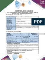 Guía de actividades y rúbrica de evaluación - Paso 5 - Realizar montaje de las experiencias pedagógicas (1) (4)