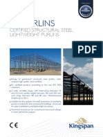 Kingspan_TZ Steel purlins_ Datasheet_Spain_EN