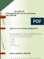 Normas para la transportación de los procesos del CRETIB