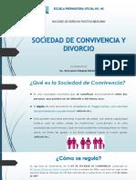 SOCIEDAD DE CONVIVENCIA Y DIVORCIO