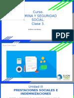 III CLASE NOMINA Y SEGURIDAD SOCIAL