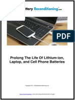 Prolong The Life Of Lithium-ion, Laptop, and Cell Phone Batteries