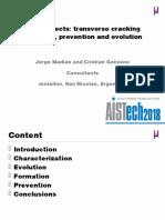 Billet defects - Transverse cracking formation prevention and evolution