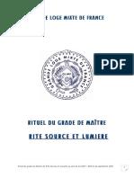 GLMF Rituel Rite Source et Lumière Maître