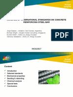 Analysis of international standards on concrete reinforcing steel bar