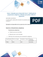 Anexo -1-Ejemplos para el desarrollo Tarea 3 - Clasificación de proposiciones categóricas y Métodos para probar validez de argumentos (1)