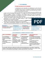 Planificador de actividades  Comunicación 5° Prim