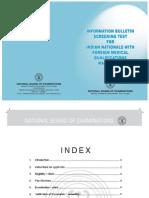 FMGE Information Bulletin