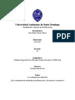 Disertación sobre la Contaminación Ambiental - Rosa María García