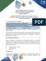 Guia de actividades y Rúbrica de evaluación - Fase 1 - Presentar solución al problema del circuito con diodos y transistores bipolares.pdf