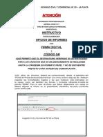 JUZGADO NRO. 10 LA PLATA  INSTRUCTIVO PARA OFICIOS INFORMES