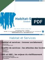 Presentation Habitat et  Services
