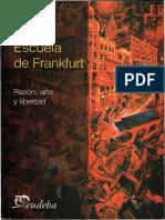 A Entel Escuela de Frankfurt. Razon Arte y Libertad Resaltado