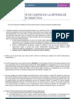 62- Aspectos a Tener en Cuenta en La Defensa de La PD