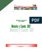 2007 MEMORIA-Y-CUENTA-2007 MINISTERIO DEL AMBIENTE