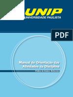 Manual de Orientação das Atividades da Disciplina UNIP
