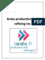 Arata production and refining Inc Empresa