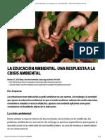 La Educación Ambiental_ una respuesta a la crisis ambiental – OtrasVocesenEducacion.org