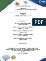 Tarea 2 - Resolver ejercicios y problemas ecuaciones diferenciales de orden superior - Grupo 74