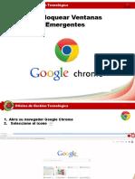 Manual Ventanas Emergentes Chrome