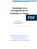 METODOLOGIA DE LA INVESTIGACION DE ACCIDENTES DE TRABAJO