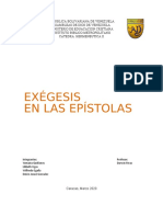 Exegesis a las Epistolas