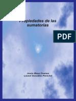 Propiedades de las sumatorias - Mesa Oramas, Jesus; Gonzalez Pe