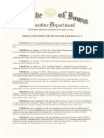 Proclamation of Disaster Emergency - 2020.05.06