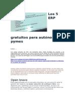 Los 5 ERP gratuitos