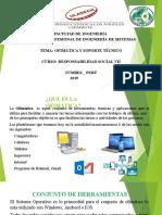 OFIMATICA Y SOPORTE TECNICO DIAPOSITIVAS - PPT
