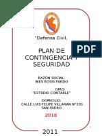 PLAN DE CONTINGENCIA  DE SAN ISIDRO
