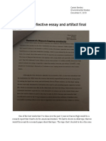 best work reflective essay and artifact